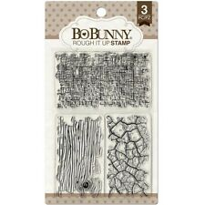 New Bo Bunny Clear Stamps Wall 2 Wall Textures Rough it Up