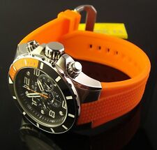 INVICTA NEW MENS SWISS 50 MM MULTI FUNCTION  PRO DIVER- ORANGE  POLY BAND