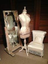 French Provincial Style Mannequin, Cheval Mirror and Chair