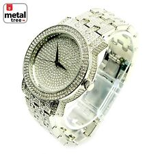 Men's Hip Hop Fashion Analog Stainless Steel Metal Mesh Band Watches 7864 SL