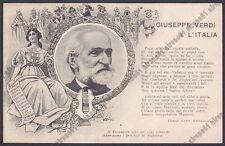 GIUSEPPE VERDI 77 PARMA - IL TROVATORE - OPERA LIRICA Cartolina PATRIOTTICA