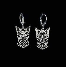 Bengal Cat Earrings -  Fashion Jewellery - Silver Plated, Leverback hook