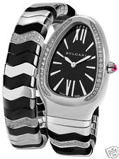 Bvlgari Bulgari Serpenti Spiga Black sp35bsdbcsd1.1t Diamond NEW Ret: $10,600