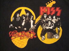 Kiss Aerosmith Heavy Metal Rock Band Music Concert Tour 2003 Black T Shirt L