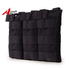 Black MOLLE Triple Open Top 5.56 .223 Magazine Pouch Holster For Tactical Vest
