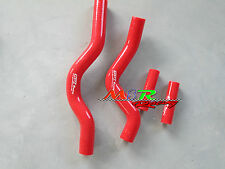 For Suzuki RM250 RM 250 2001-2008 coolant Silicone Radiator Hose kit red