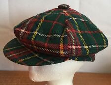 United Hatters Cap Vintage Cabbie Newsboy Cadet Hat Plaids Checks Sz Large RARE