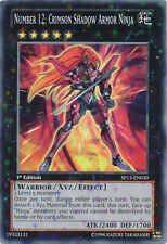 Yugioh SP13-EN030 Number 12: Crimson Shadow Armor Ninja Starfoil Rare Card