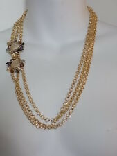 Banana Republic Large Crystal Clasp Multi Chain Necklace NIP $89.50