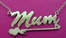 STERLING SILVER MUM MUMMY MOTHER NAME PLATE DROPPER NECKLACE BELCHER CHAIN