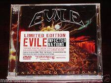 Evile: Infected Nations Limited Edition CD DVD Set 2009 Bonus Track Earache NEW