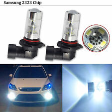 2x SAMSUNG 2323 SMD 60W High Power LED H10 9145 Projector Lens Fog/Driving light