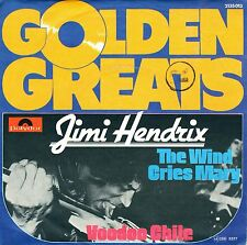 """7"""" Jimi Hendrix – The Wind Cries Mary / Voodoo Chile / Golden Greats// Germany"""