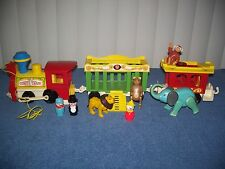 Vintage Fisher-Price Little People Circus Train #991 Complete 3 Car Set