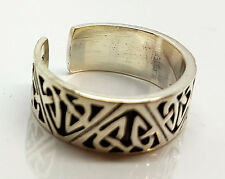 Mens Thai 925 Sterling Silver Artistic Designs Open Thumb Ring / Rings Jewellery
