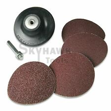 "New 3"" Roll Surface Sanding Roloc Discs with Mandrel 40 60 80 100 Grits"