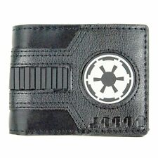 Star Wars Galactic Empire logo bi fold wallet black sith darth vader dark side
