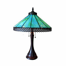 """CH15023TM16-TL2 Mila Tiffany Style Stained Glass 2-Light Table Lamp W/ 16"""" Shade"""