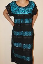 Oaxaca Mexican Tunic Dress Huipil 100% Cotton Back Strap Loom Telar Medium