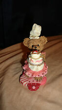 Adorable Home Interiors Kuddles Korner May Bear With Cake 4 Mom Figurine