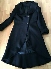 Ladies Gorgeous Designer Didier Parakian Black Wool Jacket size 12