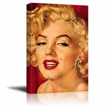 Portrait of Marilyn Monroe - Giclee Print Canvas Wall Art. Ready to Hang - 16x24