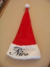 Naughty Nice reversible hat / stocking cap Christmas Santa Claus