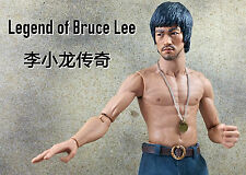 1/6 Bruce Lee Head sculpt IP Man jumpsuit Jet Li Muscle Body Enterbay Kung fu CY