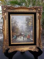 MARCHAND MODERNIST FRENCH ARTIST SIGNED OIL ON CANVAS PAINTING EIFFEL TOWER