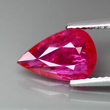 2.05ct.STUNNING!PEAR 100%NATURAL GEM PINKISH RED MOZAMBIQUE RUBY(NATURAL HEATED)