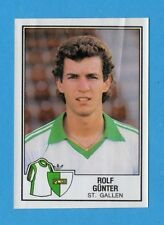 SVIZZERA -FOOTBALL 82 -PANINI -Figurina n.212- GUNTER - ST.GALLEN -Rec