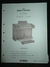 Yamaha Electone E-10R Part List Catalog Manual E10R 1975 Parts