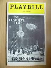 1975 PLAYBILL URIS THEATRE Programme: THE MERRY WIDOW by FRANZ LEHAR