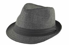 Straw Fedora 64cm 3xl Black