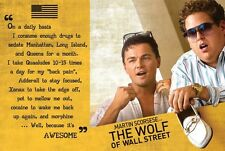 WOLF OF WALL STREET 24X36 POSTER WALL ART FUNNY MOVIE LEONARDO DICAPRIO NEW YORK