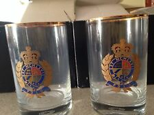Vintage Ralph Lauren Tumbler Glasses with decal (4 Glasses)