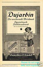 Weinbrand Dujardin Reklame 1921 Brennerei Mädchen Junge Halbakt Akt Wein Melcher