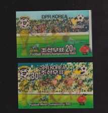 s5624) KOREA 1980 MNH** World Cup Football'82- CM Calcio 2v foil stamps (3D)