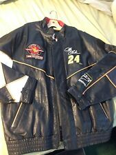 1995 Champion Jeff Gordon #24 100% Leather Jacket Sam Bass Artwear XXL Black $$