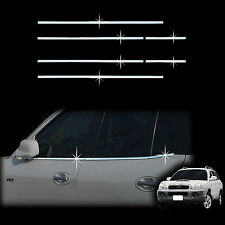 Chrome Door Window Sill Belt Molding Trim Cover for 01-06 Santa Fe