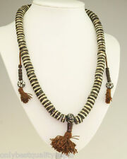 Mala Rosenkranz schöne Büffelhorn Knochen Halskette Kette Buddha 44