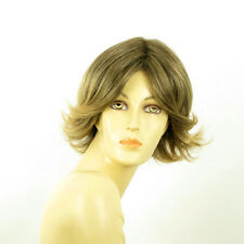 short wig for women brown wick golden ref LISA 6t24b PERUK