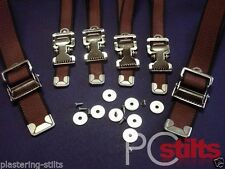 TOP QUALITY Plastering Stilts Parts Straps with Buckles Brown Full Set