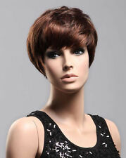 Ladies Short Wig in Boycut Style 2 Tone Copper Red Dark Brown Wig! Vogue Wigs UK
