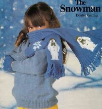 The Snowman Christmas Winter Scarf & Gloves Knitting Pattern