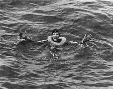 "German yells for help after his submarine is sunk 8""x 10"" WWII Photo 289"