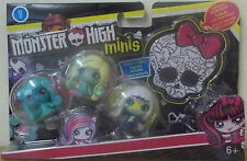 Muñeca Monster High ~ Minis 3 Pack ~ Frankie Stein, Lagoona Blue & Twyla