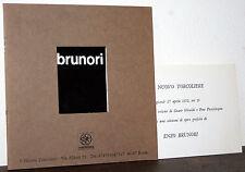 Brunori catalogo  Roma Il Nuovo Torcoliere 1972