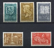 31759) HUNGARY 1940 MNH** King Matthias 5v. Scott# B117/21
