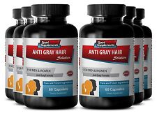 Prevent Scaly Scalp Pills - Anti-Gray Hair Solution 1500mg - Go Away Gray 6B